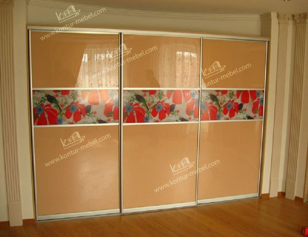 Шкафы-купе с цветным стеклом oracal - каталог.