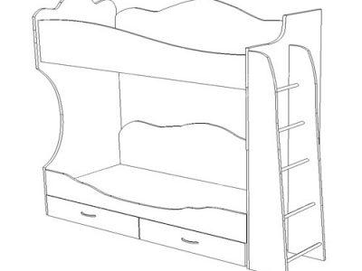 2-х ярусная кровать без шкафа