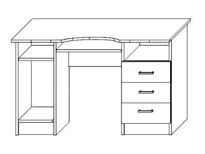 Стол письм. №4 (ширина-1,22м, глубина-0,65м)