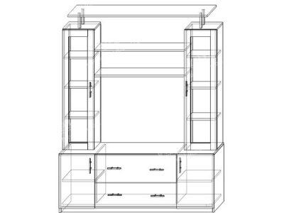 Гостиная Диана-1 (ширина-1,7м, глубина-0,5м, высота-1,95м)