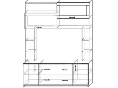 Гостиная Диана-2 (ширина-1,7м, глубина-0,5м, высота-2,1м)
