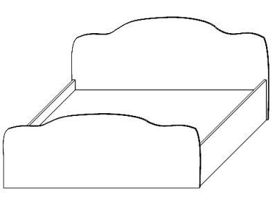 Кровать ЛДСП 1