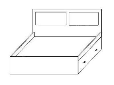 Кровать ЛДСП 3
