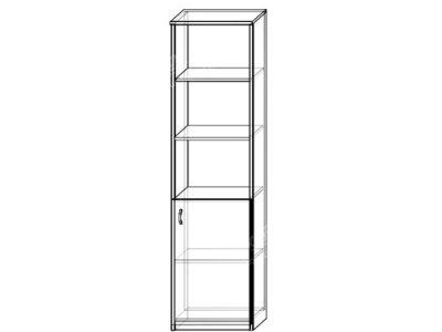 Шкаф 1 (ширина-0,5м, глубина-0,4м, высота-2,1м)