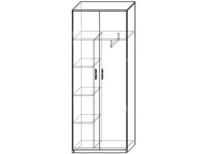 Шкаф 12 (ширина-0,8м, глубина-0,4м, высота-2,1м)