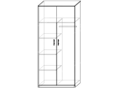 Шкаф 13 (ширина-0,8м, глубина-0,5м, высота-2,1м)