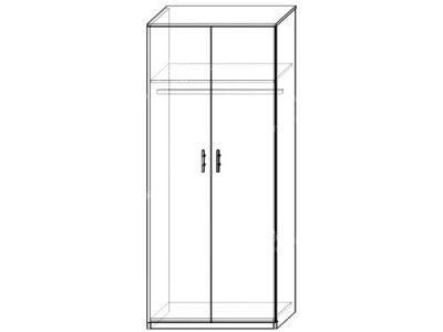 Шкаф 14 (ширина-0,8м, глубина-0,5м, высота-2,1м)