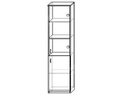 Шкаф 2 (ширина-0,5м, глубина-0,4м, высота-2,1м)