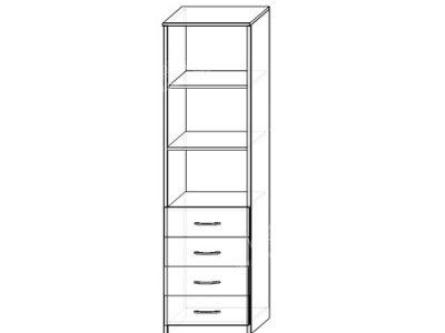 Шкаф 3 (ширина-0,5м, глубина-0,4м, высота-2,1м)