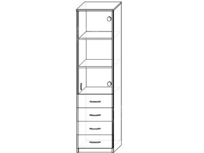 Шкаф 4 (ширина-0,5м, глубина-0,4м, высота-2,1м)