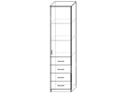 Шкаф 5 (ширина-0,5м, глубина-0,4м, высота-2,1м)