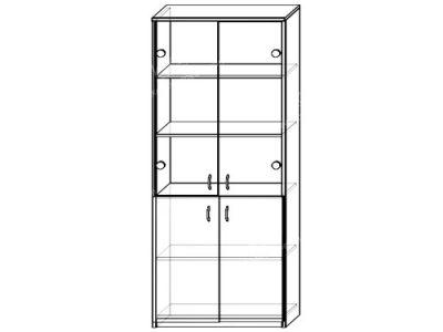 Шкаф 9 (ширина-0,8м, глубина-0,4м, высота-2,1м)