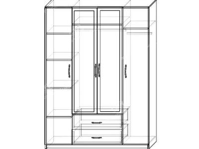 Шкаф Комфорт-1 (ширина-1,6м, глубина-0,5м, высота-2,2м)