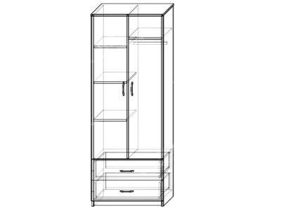 Шкаф Комфорт-2 (ширина-0,8м, глубина-0,5м, высота-2,2м)