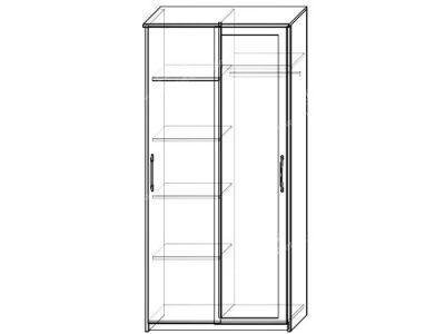 Шкаф-купе Контур 2-х ств (ширина-1м, глубина-0,58м, высота-2,1м)