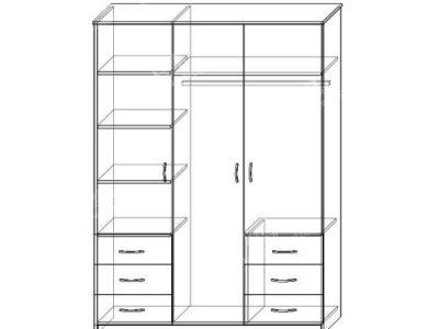 Шкаф Престиж-2 (ширина-1,5м, глубина-0,5м, высота-2,1м)