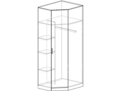 Шкаф угловой 1 (ширина-0,85/0,85м, глубина-0,5м, высота-2,1м)