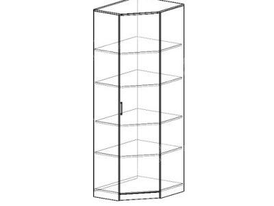 Шкаф угловой 2 (ширина-0,7/0,7м, глубина-0,4м, высота-2,1м)
