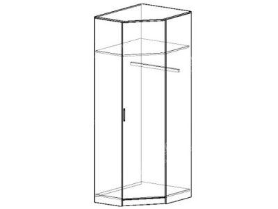 Шкаф угловой 3 (ширина-0,7/0,7м, глубина-0,4м, высота-2,1м)
