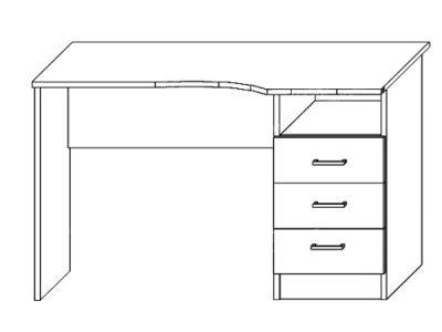 Cтол письменный № 1 (ширина-1,1м, глубина-0,57м)