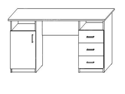 Cтол письменный № 3 (ширина-1,5м, глубина-0,6м)