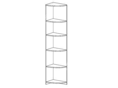 Угловой скос 2 (ширина-0,3м, глубина-0,4м, высота-2,1м)