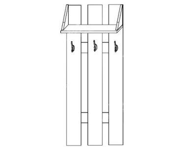 Вешалка (ширина-0,6м, глубина-0,23м, высота-1,4м)